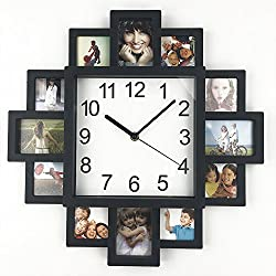 DIY Frame Clock, TimeLike DIY Wall Clock Modern Design DIY Photo Frame Clock Plastic Art Pictures Clock Unique Klok Home Decor - Make Your Own Multi-Photo Clock