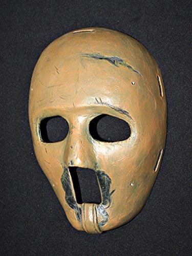 - 1:1 Custom Vintage Fiberglass Roller Ice Hockey Goalie Mask Keeper Helmet Jacques Plante HO33