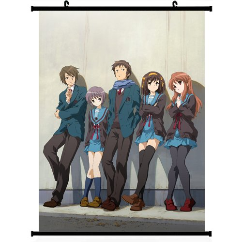 The Melancholy of Haruhi Suzumiya Anime Wall Scroll Poster 24*32 support Customized