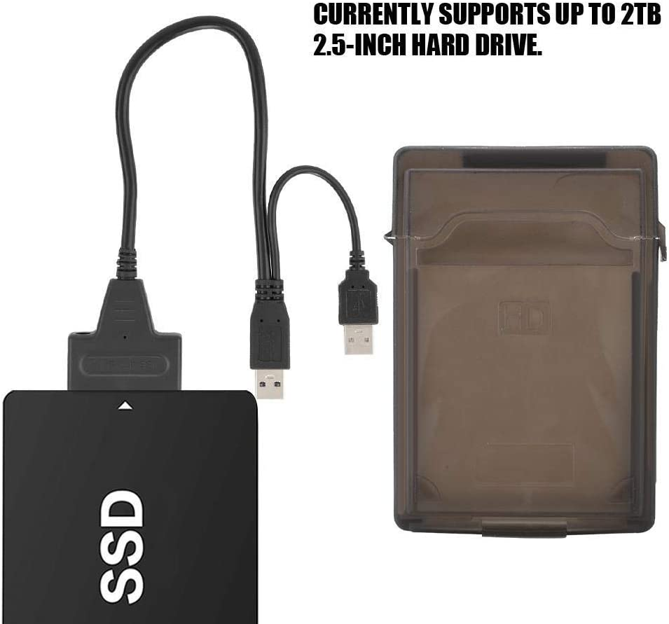 with USB3.0 to SATA Converter Adapter Cable Supports up to 2TB 2.5-inch Hard Drive DSED 2.5inch External Hard Drive Enclosure Case