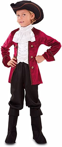 EUROCARNAVALES Disfraz de Pirata Granate Infantil - Niño, de 10 a ...