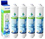 4x AquaHouse UIFA Compatible Filter Fits AEG Electrolux, Bosch, Bauknecht, Neff, Siemens, Hotpoint Fridges with External Water Filter DD-7098 / 497818