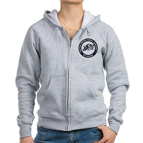 (CafePress US Naval Academy Ice Hockey - Womens Zip Hoodie, Classic Hooded Sweatshirt with Metal Zipper)