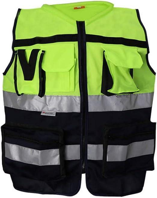 WAVENI Tamaño 5 / Chaleco Reflectante/Chaleco de Seguridad/Cinturón Fluorescente. Joker de Trabajo de Alta Visibilidad. Bicicleta de Seguridad de Noche. Chaleco Reflectante de Seguridad reflectant: Amazon.es: Hogar