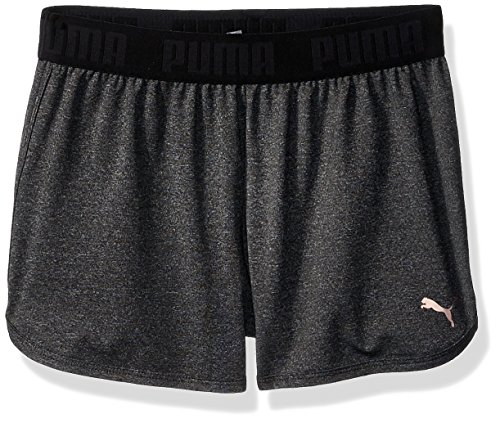 PUMA Big Girls' Dancer Shorts, Ebony Heather X-Large -
