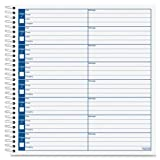 Wholesale CASE of 25 - Tops Spiral Bound Voice Message Log Book-Voice Message Log Book, 800 Messages, 8-1/2''x8-1/4'', White