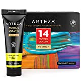 Arteza Acrylic Paint, Set 14 Colors/Pouches