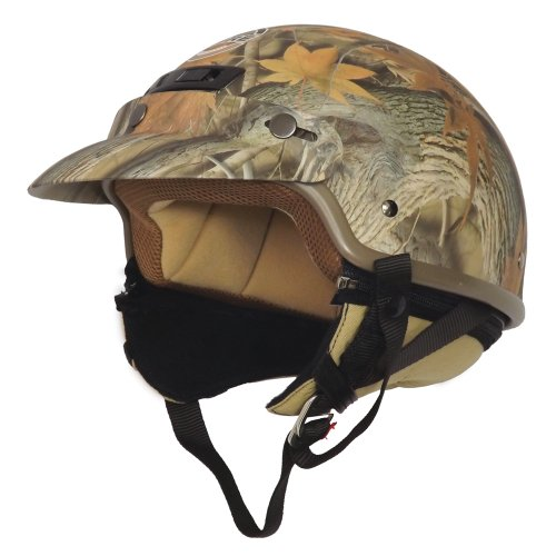 Core Forester Deluxe Half Helmet (Tan Camouflage, Large)