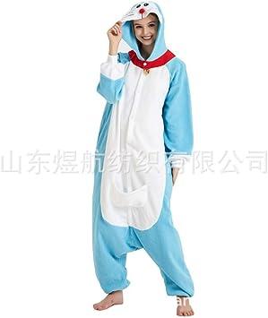 SALICEHB Jingle Cat Fleece Cartoon Pijama De Una Pieza Doraemon ...