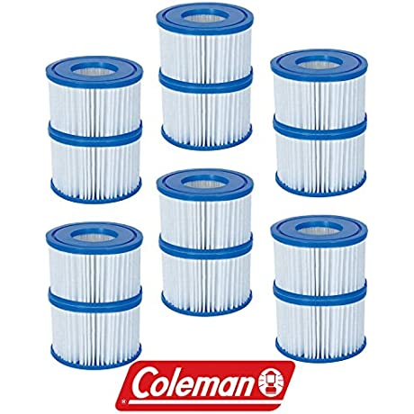 New Coleman Lay Z Spa Replacement Filter Cartridges Pack Of 12 Item 90352