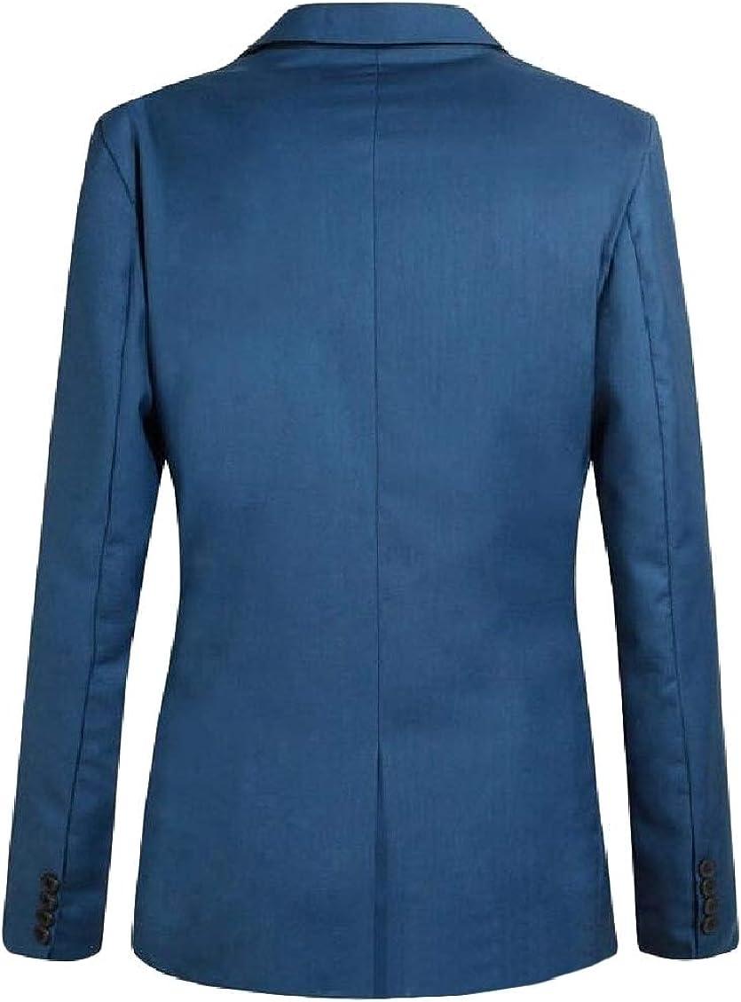 Sweatwater Mens Lapel Stylish Formal Coat One Button Blazer Jackets