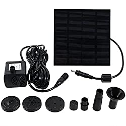 Sunnydaze Small Solar Water Pump Submersible Fountain Kit, 40GPH - for Outdoor Pond, Garden, Pool, Aquarium, or Fish Tank