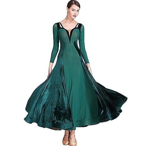 Terciopelo Malla Vestido de Baile Moderno Falda Plisada Falda de ...
