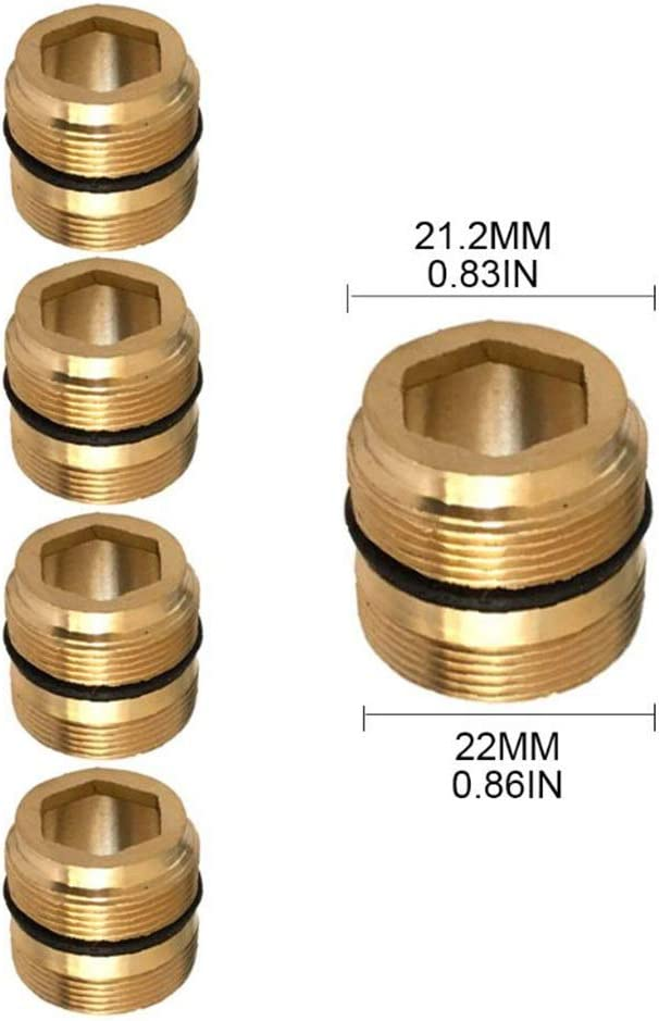 Water Purifier Connector Brass Faucet Adapter Size : 1 Kitchen Bathroom Faucet Accessories AIGUO 10//16//18//20//21//22//23//24mm Internal And External Thread Tap Aerator 5 Pcs