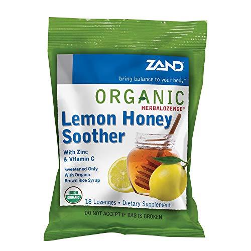 Zand Organic HerbaLozenge Lemon Honey Soother 18ct