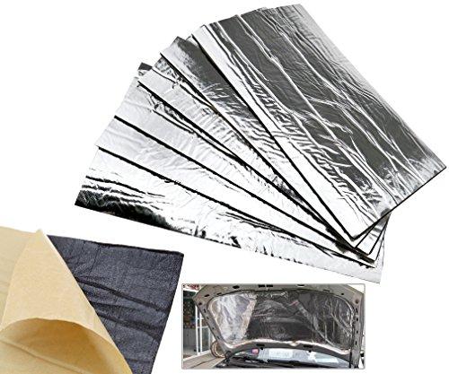 Fiberglass 30 Hoods - 6 x Heat Shield Mat Car Exhaust Muffler Insulation fr hood Fiberglass 50x30cm