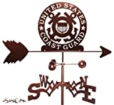 ARMED SERVICES US COAST GUARD USCG FLAT POST Mount Weathervane by SWEN Products