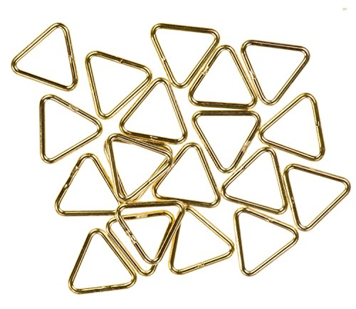 - uGems 12 14K Gold Filled Jump Ring Triangle 20ga 7mm Closed Rings