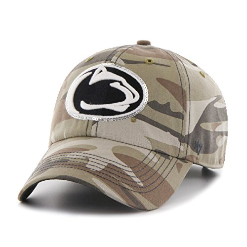 NCAA Penn State Nittany Lions Women's Sparkle Camo Clean Up Hat, Women's, Faded (Penn State Camo)