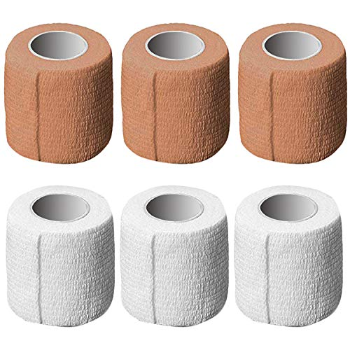 AxeSickle 2 Inch X 5 Yards, Self Adherent Wrap 12 Bulk Pack Self Adhesive Tape, Cohesive Bandage Tape, Strong Elastic Sports Tape for Wrist, Stretch Athletic Tape for Ankle Sprains and Swelling.