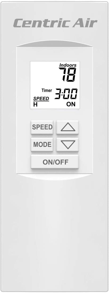 Centric Air 3.4B Whole House Fan with R-5 Insulated Damper 3242 CFM HVI-916 2-Speed Remote Control with Timer Homes up to 2800 Sqft 15 Year Warranty