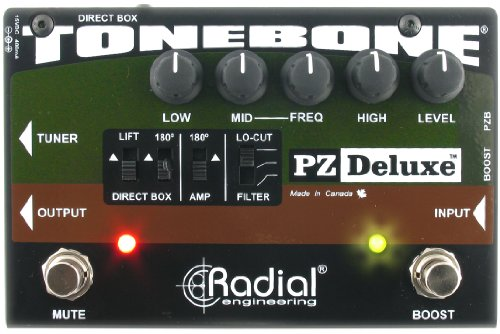 Radial Engineering R8007320 PZ-Deluxe Acoustic Preamp by Radial Engineering