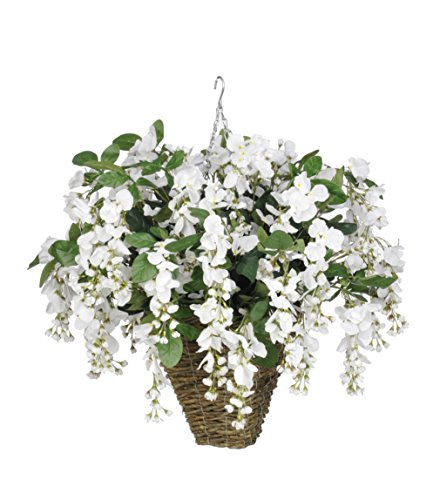 Artificial-Wisteria-Hanging-Plant-in-Square-Basket-Flower-Color-White