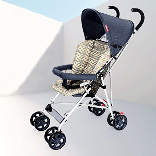SXZHSM-Strollers Strollers Light Portable Folding Strollers Children's Strollers (Blue) (Navy Blue) 24 x 18 x 109.5cm (Color : Navy Blue)