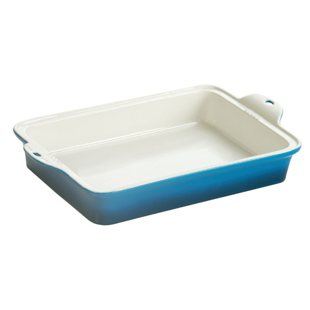Lodge STW13RCT33 Stoneware Baking Dish, 9'' x 13'', Blue