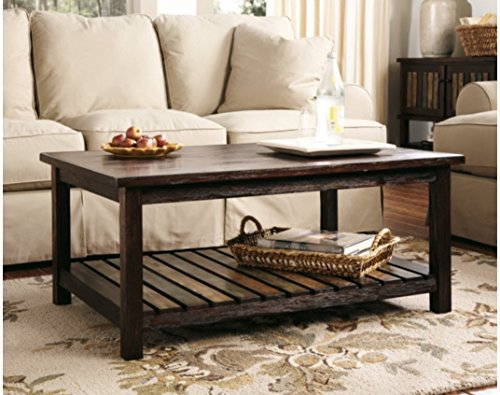 Ashley Furniture Signature Design - Mestler Living Room Table Set - Coffee Table with Two End Tables - Rectangular - Rustic Brown
