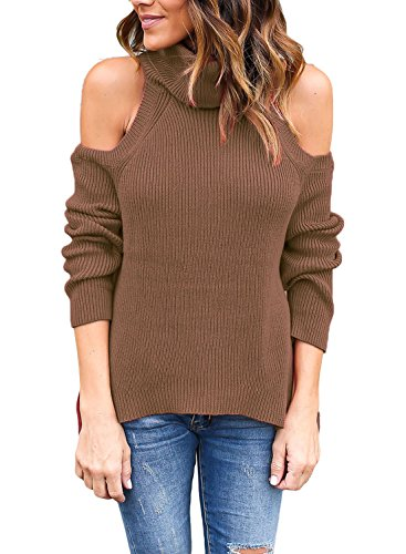 Astylish Shoulder Ribbed Sweater Pullover