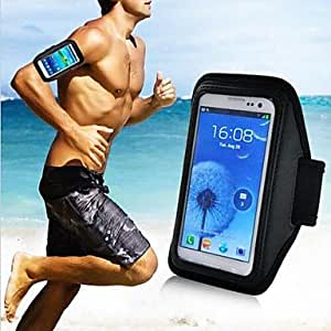 LIMME Vertical Universal Sport JoLIMMEing Armband Pouch for Samsung Galaxy Phone (Black) , Black