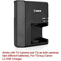 Canon replacement LC-E10 Quick Charger for Canon LP-E10 Li-ion Battery compatible with Canon EOS 1100D, EOS Rebel T3, EOS Kiss X50
