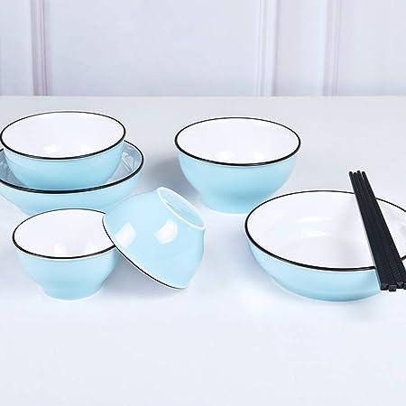 Cubiertos conjunto plato chino conjunto de cerámica simple 8 ...
