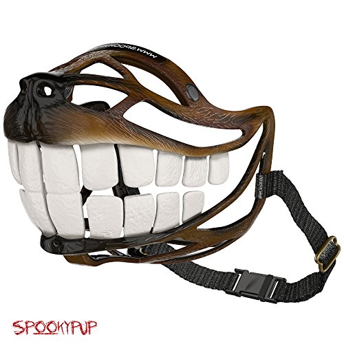 [SpookyPup Hilarious Dog Costume Muzzle with Large Teeth – Turn Your Dog into a Fun-loving, Cute and Happy Friend] (Hilarious Costumes Ideas)