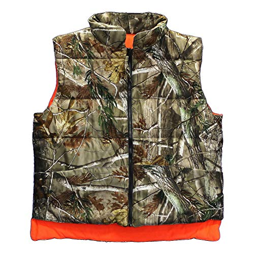 (DeerCamp Gamehide Reversible Vest Realtree AP Camo/Blaze Orange DVR 3-XLarge)