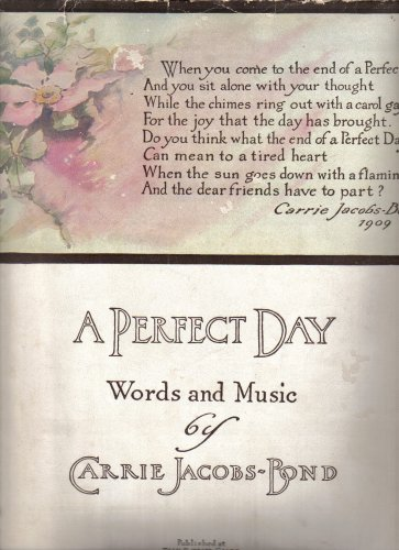 A Perfect Day Sheet Music (Words and Music, Medium Level)