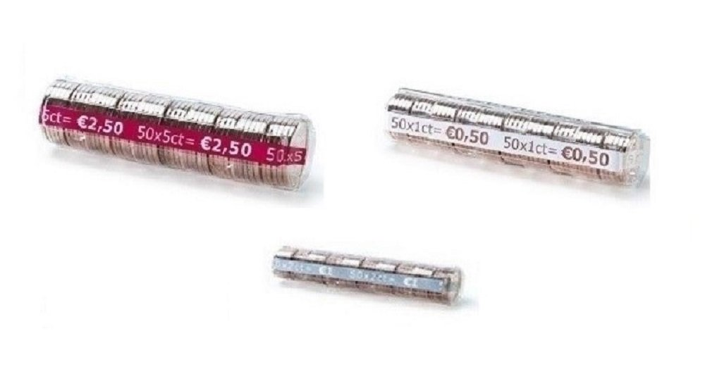 Blister per monete euro - 240 blister portamonete misti da 1, 2, 5 centesimi Thecointainer