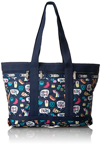 LeSportsac Classic Medium Travel Tote, Food Talk ()