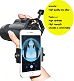 Ulako Universa Phone Celll Adapter Mount Compatible with Monocular Binocular Spotting Scope Telescope and Microscope For Iphone Sony Samsung Moto Record the Nature of the World