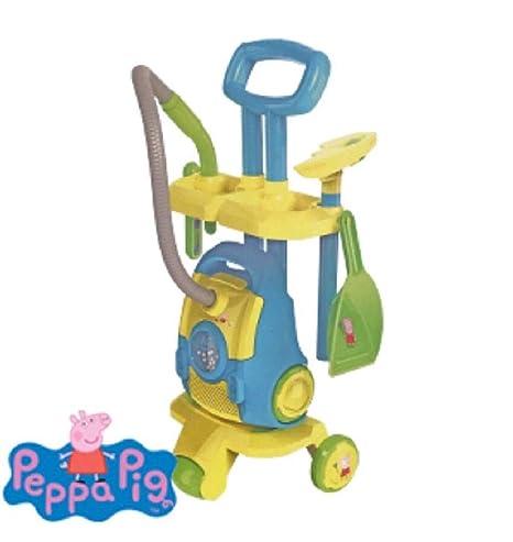 Peppa Pig 1684249 Carrito de Limpieza al Vacío con Sonidos Realistas, Incluye Cepillo y Pan