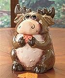 Ceramic Forest Friends Moose Cookie Jar Canister