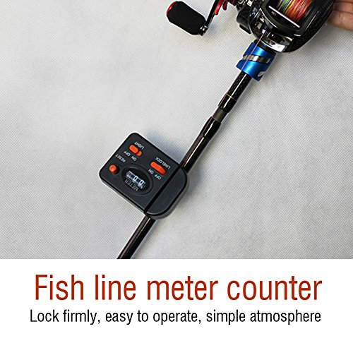 T-best 99m Fishing Clip-on Rod Line Counter Depth Finder Professional Digital -