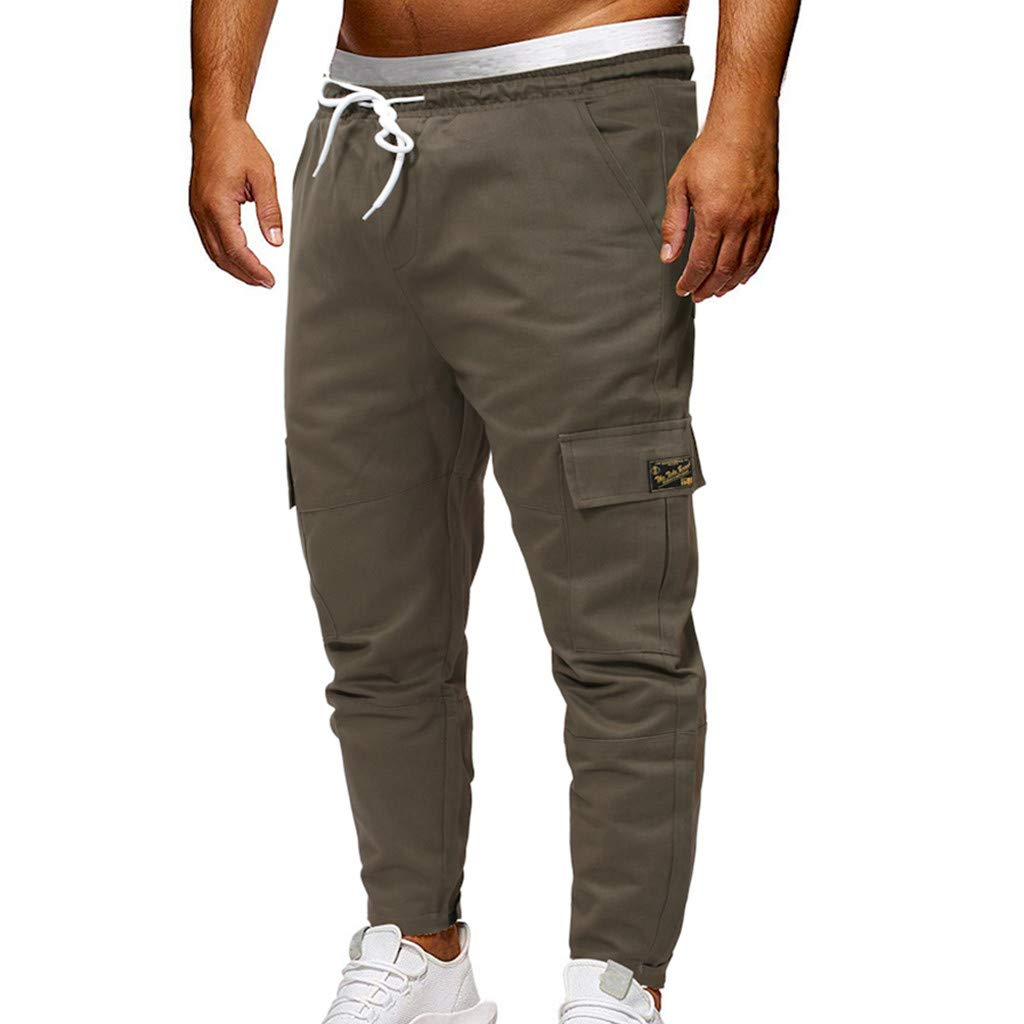 Amazon.com: YKARITIANNA Fashion Mens Sport Yoga Gym Jogging Pant Casual Loose Jeans Sweatpants Drawstring Pant: Arts, Crafts & Sewing