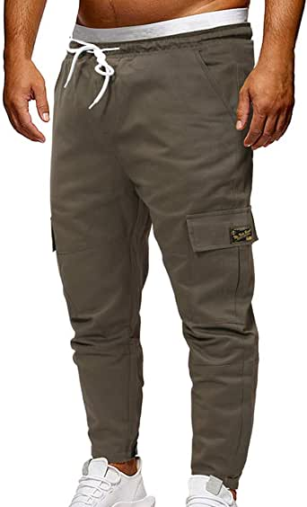 VPASS Pantalones Hombre, Pantalones Casuales Moda Trabajo ...