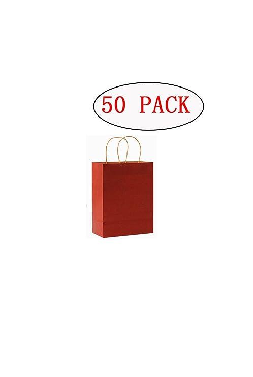 Popowbe - Bolsas de papel kraft para la compra, 50 unidades ...