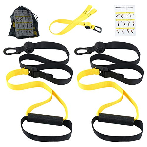 Yaesport BodyWeight Fitness Training Kit | Resistance Straps Trainer for Full Body Strength| Multiple Anchoring Solutions with Easy Setup for Home, Gym & Outdoor Workouts