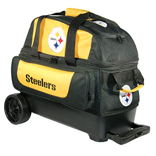 KR Strikeforce Pittsburgh Steelers Double Roller Bowling Bag, Multicolor
