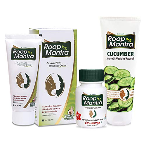 Roop Mantra Skin Care Combo Pack (Cream, Face Wash and Capsules)