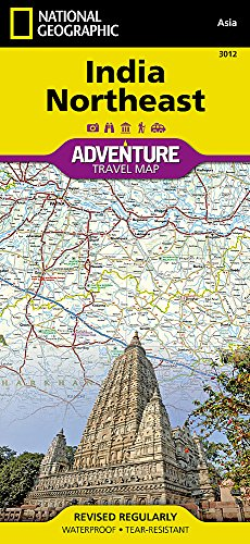 India Northeast (National Geographic Adventure Map (3012)) (South India Map)